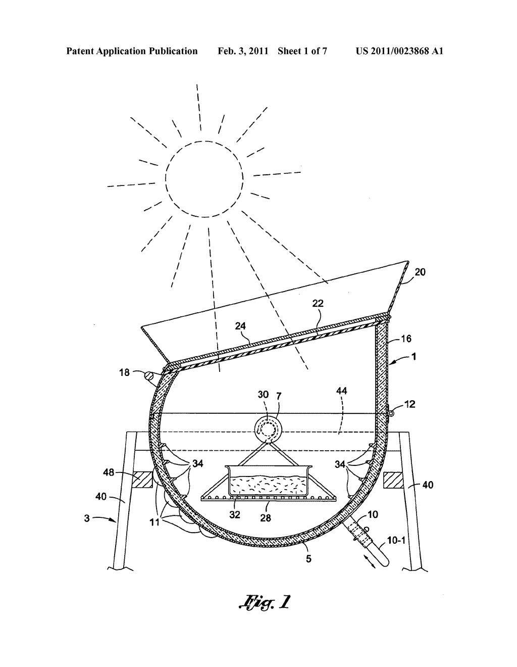 Pin Solar Cooker