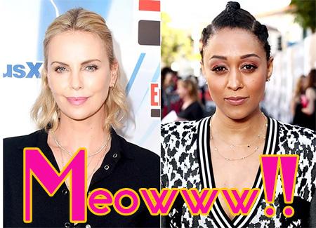Charlize Theron habla del problema con Tia Mowry. LOL!