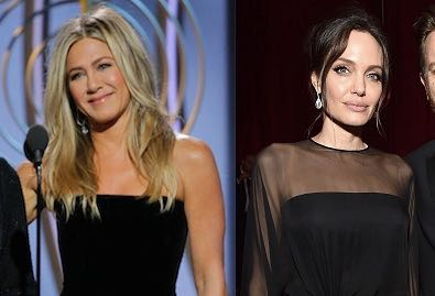 La reacción de Angelina Jolie ante Jennifer Aniston en los Golden Globes