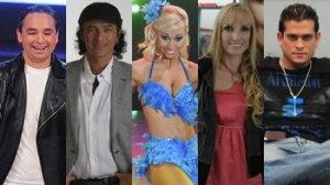 Roberto Martínez, Karina Calmet, Christian Domínguez, Belén Estévez