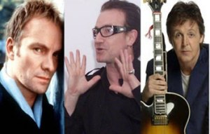 Carlos Canales, Sting, Paul McCartney , Bono