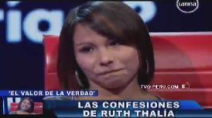 concursante , farándula peruana , El valor de la verdad , Beto Ortiz , Ruth Thalía