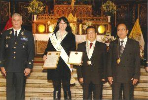 Fabiola de la Cuba, Instituto Nacional de Desarrollo y Acción Social Perú,Consejo de la Orden Premio Unión Nacional del Perú , Medalla de Oro