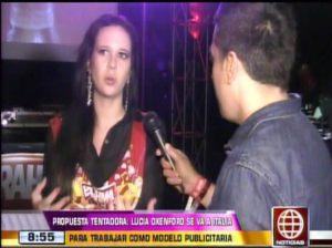 Lucía Oxenford , Videos de Espectáculos , Jean Paul Santa María , América Espectáculos