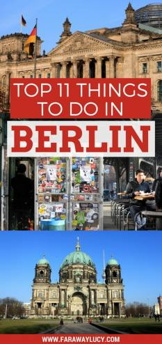 """""""My top 11 things to see and do when visiting Berlin, Germany's capital. Find out the best views of the city and the best burger in the city! Click through to read more..."""