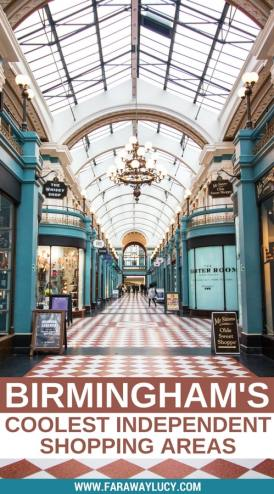Birmingham's coolest independent shopping areas that aren't the Bullring or Grand Central! Birmingham has a whole host of quirky, independent markets and arcades that are just waiting to be explored, from The Custard Factory to The Great Western Arcade. Click through to read more...