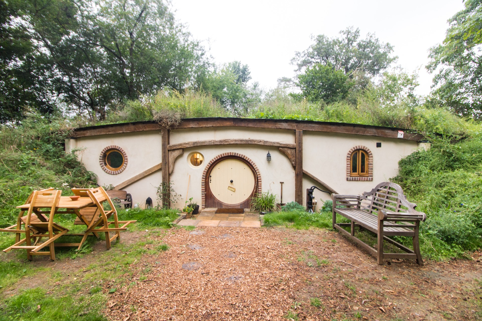 Staying in Britain's Only Authentic Hobbit Hole at West Stow Pods