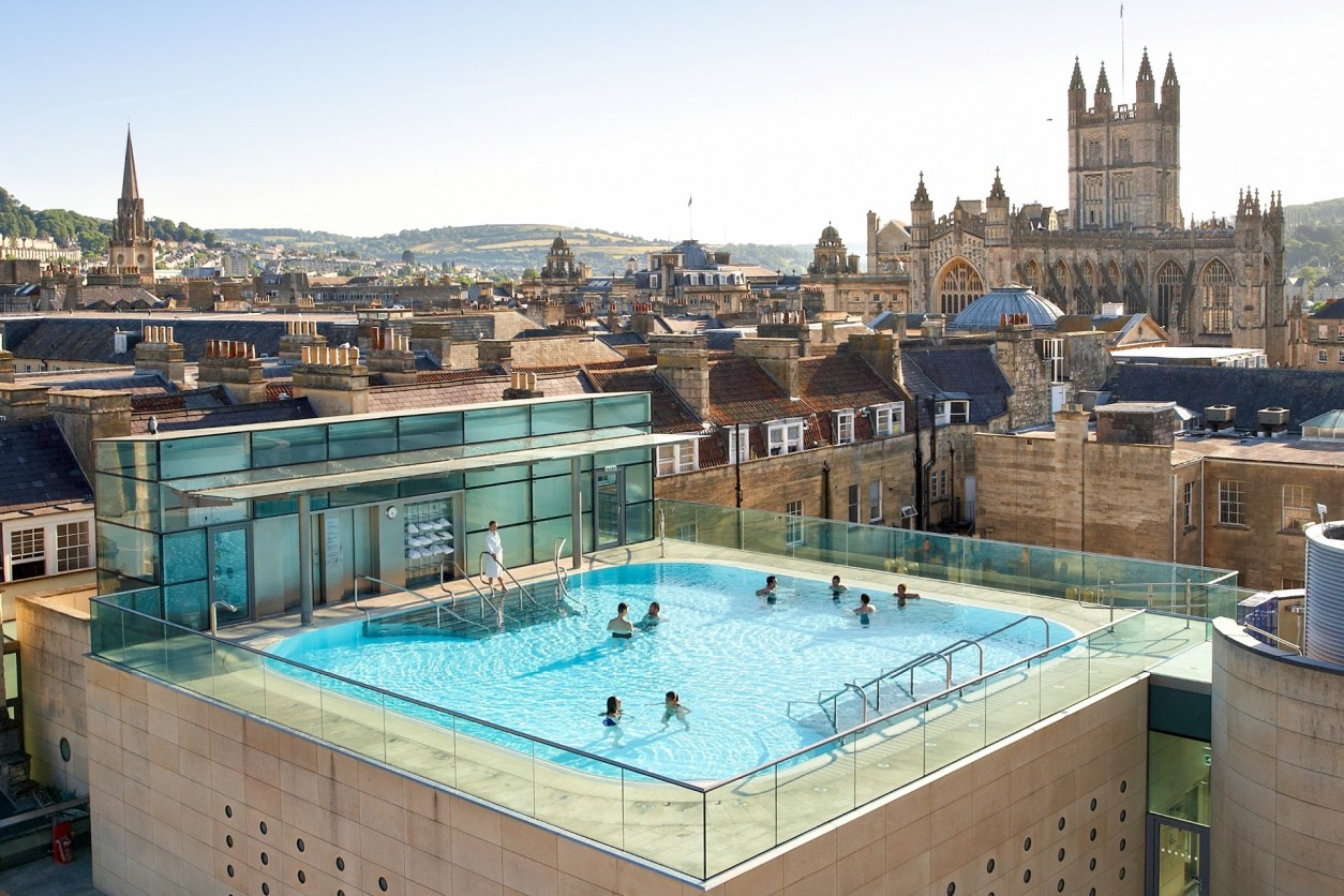 Thermae Bath Spa Heated Rooftop Pool City Views Bath Hen Do Romantic Travel Gift Ideas for Valentine's Day