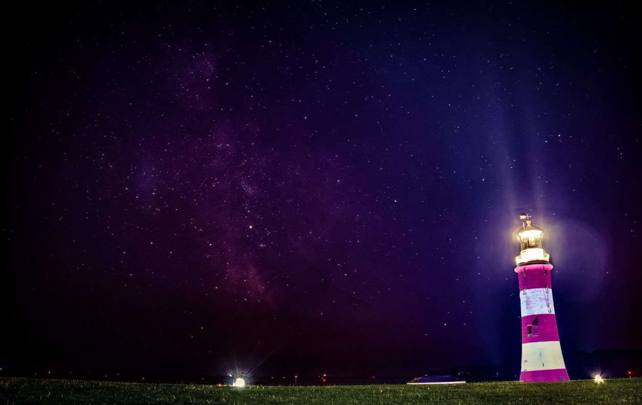 Lighthouse at night. Astrophotography. Stars. Plymouth Hoe. Smeaton's Tower at night. 17 Beautiful Places to Visit in Devon for a Great Day Out. Devon England. Devon UK. Things to do in Devon. Places to see in Devon. What to see in Devon. Things to see in Devon. What to do in Devon. Devon attractions. Devon top attractions. Devon travel blog. Devon travel guide. The English Riviera. Exeter. Plymouth. Dartmouth. Dartmoor National Park. Exmoor National Park. Salcombe. Clovelly. Totnes. Appledore. Watermouth. Croyde. Woolacombe. Dartmouth. Ilfracombe. Beer. Burgh Island. Lundy Island. Click through to read more...