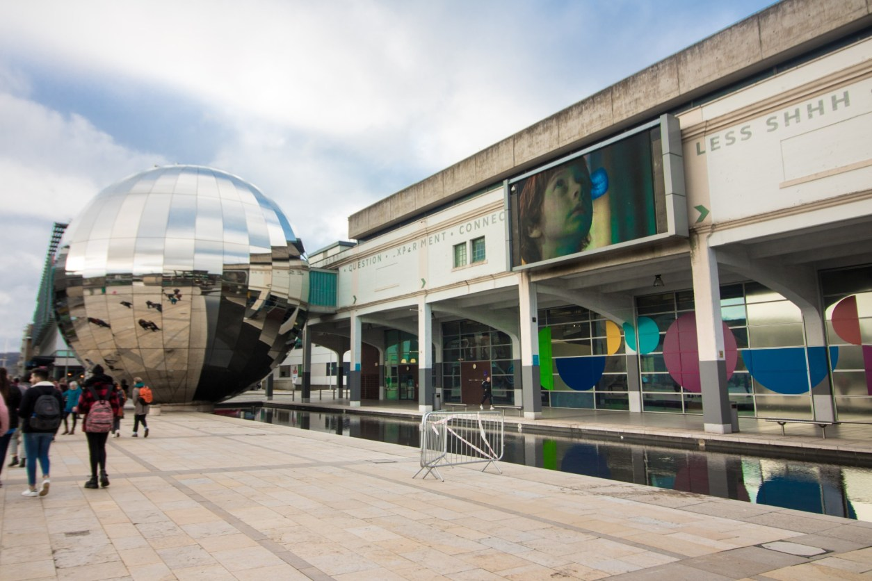 Millennium Square Bristol. We the Curious Science Centre. Planetarium. Huge mirrored ball in square. How to Spend the Perfect Day on Bristol Harbourside. What to do on Bristol Harbourside. Bristol UK. Bristol England. Things to do on Bristol Harbourside. Bristol travel guide. Bristol travel tips. Bristol travel blog. What to do in Bristol. What to see in Bristol. Things to do in Bristol. Things to see in Bristol. How to spend a day in Bristol.