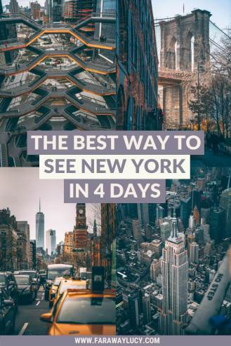 The Best Way To Easily See New York In 4 Days [Itinerary]. New York itinerary 4 days. 4 days in New York City itinerary. 4 day trip to New York. New York itinerary. 4 day itinerary New York. New York City itinerary 4 days. New York City photography. New York travel guide. New York travel tips. Things to do in New York City. What to do in New York City. Click through to read more...