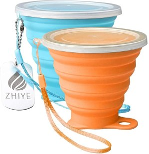 zhiye-collapsible-camping-cup-with-lid-bpa-free-silicone-unbreakbale-retractable-portable-folding-travel-mug-for-outdoor-hiking-9.5-oz-2-pack