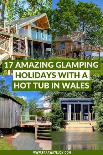 17 Amazing Glamping Holidays with a Hot Tub in Wales, UK. Looking to go glamping in Wales? Whether you want to stay in a treehouse, safari tent, eco-dome or shepherds hut you'll love these glamping holidays in Wales. Click through to read more...