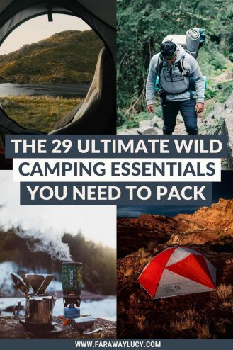 The 29 Ultimate Wild Camping Essentials You Need to Pack. This guide will show you the must-have wild camping kit list you need to follow on your next wild camping adventure! Click through to read more...