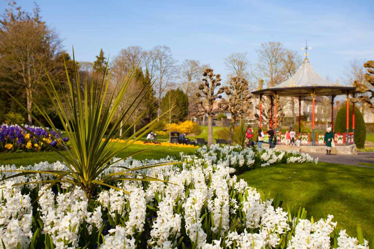 the-bandstand-surrounded-by-flowers-in-borough-gardens-in-dorchester