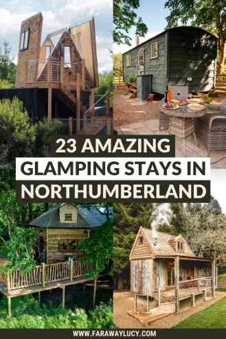 Glamping Northumberland: 23 Amazing Places to Stay At. From treehouses and shepherds huts to safari tents and yurts, you'll love these Northumberland glamping holidays. Click through to read more...