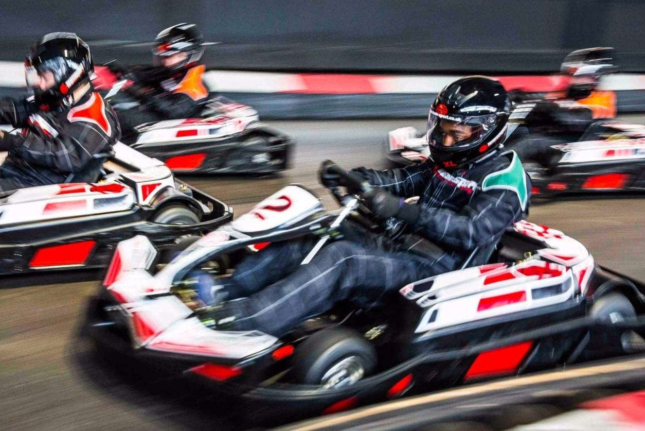 four-people-go-karting-at-teamsport-karting