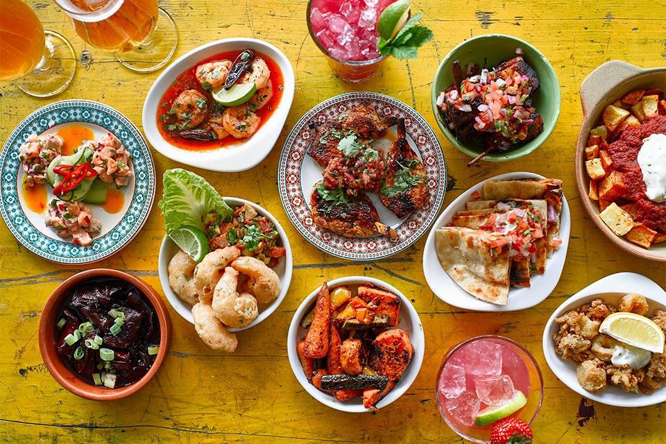 plates-and-bowls-of-food-at-revolucion-de-cuba