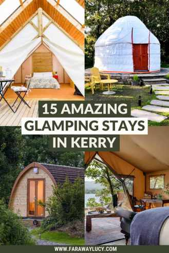 Glamping Kerry: 15 Amazing Places You Need to Stay At. From safari tents and shepherds huts to glamping pods and yurts, here are 15 amazing glamping holidays in Kerry. Click through to read more...