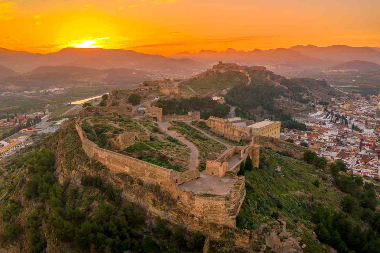 aerial-sunset-panorama-view-of-sagunto-fortress