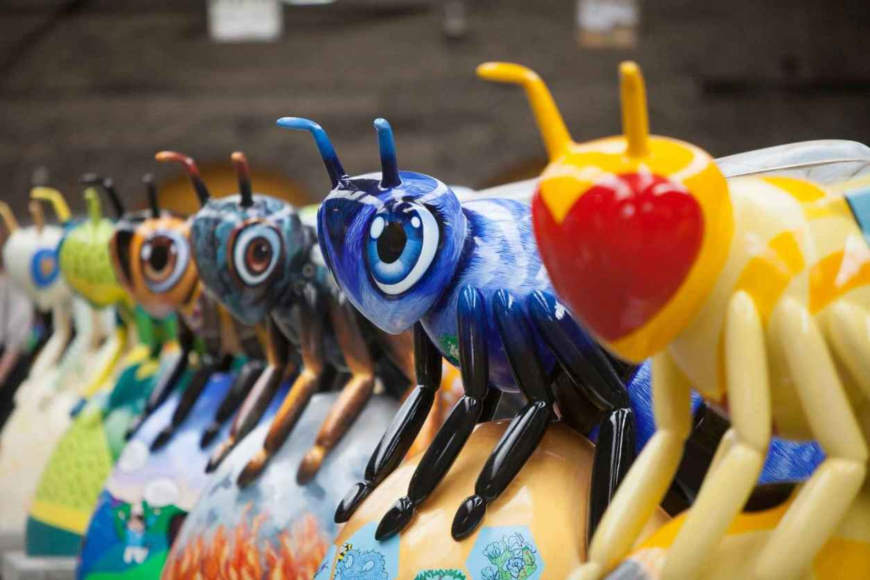 bee-sculptures-at-bee-in-the-city-free-things-to-do-in-manchester