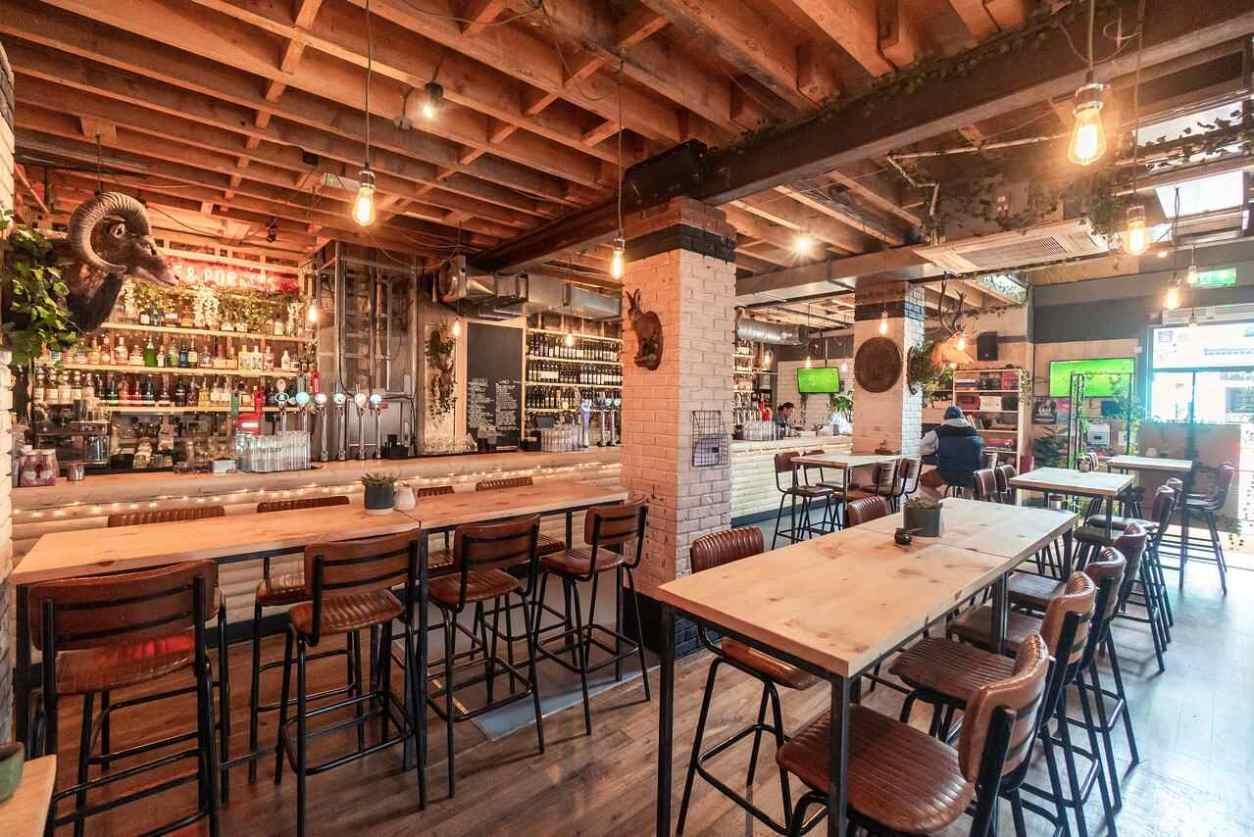 brown-interior-of-love-and-rockets-bar