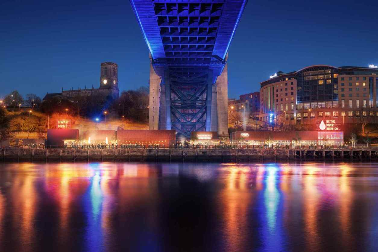 by-the-river-brew-co-restaurant-on-river-lit-up-at-night-indoor-activities-newcastle