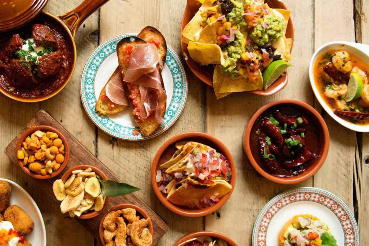 plates-and-bowls-of-tapas-at-revolucion-de-cuba