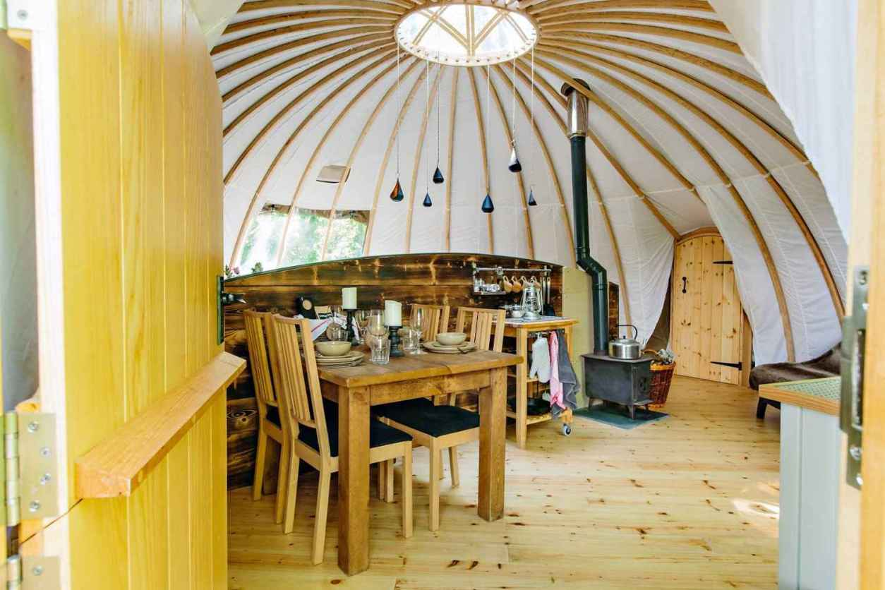 living-and-kitchen-area-inside-penhein-glamping-alachigh-tent-glamping-south-wales
