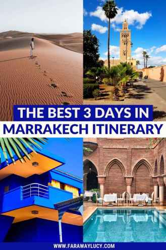 3 Days in Marrakech Itinerary: The Best Way to See Marrakech. This ultimate 3 days in Marrakech itinerary shows you the best way to see Marrakech, including where to stay, where to eat, and what to do! Click through to read more...