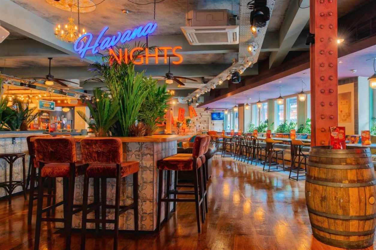 interior-of-revolucion-de-cuba-bar-with-restaurant-tables-bottomless-brunch-norwich