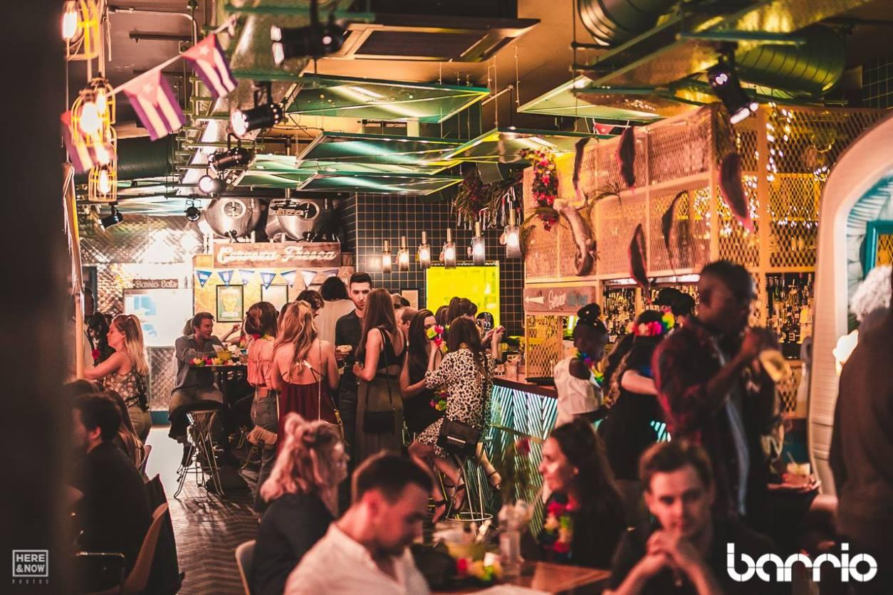 people-drinking-inside-barrio-restaurant-bottomless-brunch-brixton