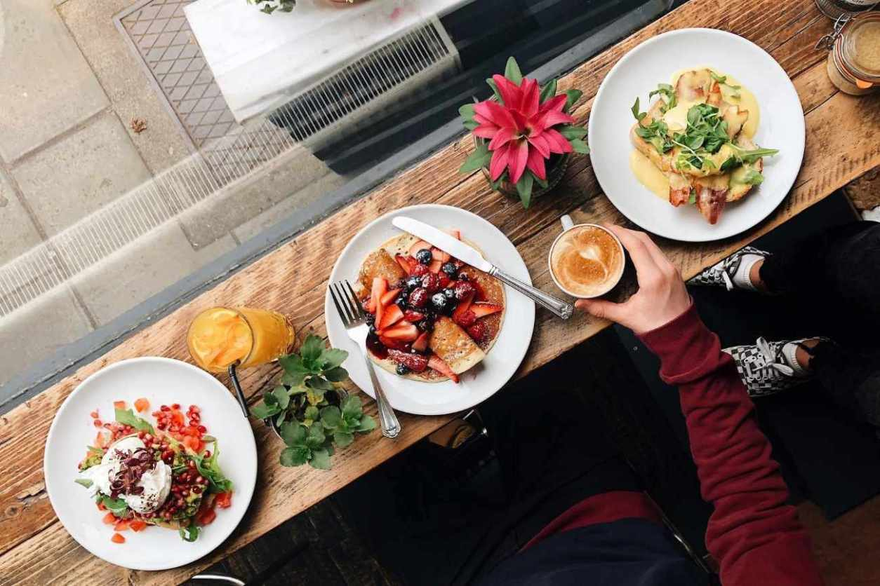 three-plates-of-breakfast-food-salt-cafe-best-brunch-in-edinburgh