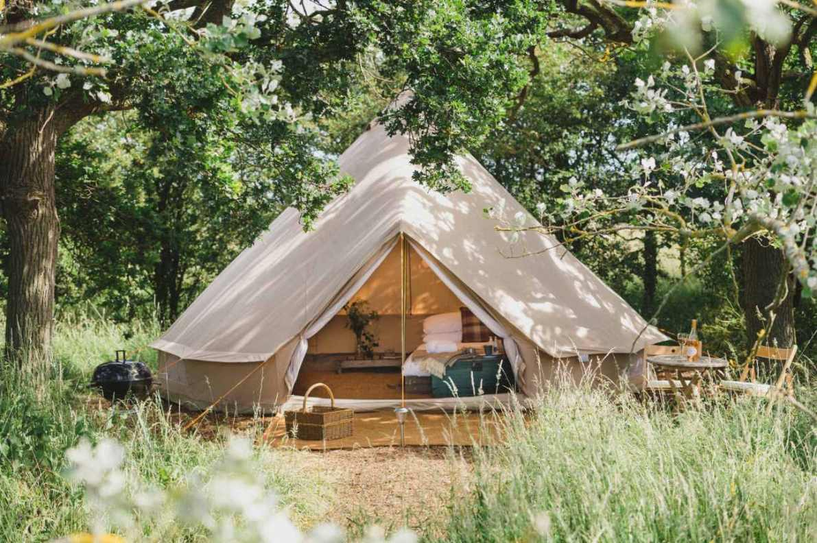 woodland-bell-tent-at-elmley-nature-reserve-glamping-kent