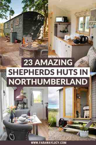 Northumberland Shepherds Huts: 23 Amazing Huts You Can Stay In [2021]. From shepherds huts with hot tubs to shepherds huts with amazing views, here are 23 amazing Northumberland shepherds huts you can stay in! Click through to read more...