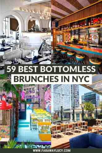 From rooftop bottomless brunches to bottomless brunches with live music, here are the 59 best places to go for bottomless brunch in NYC! Click through to read more...