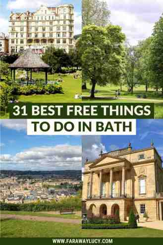 From art galleries, parks and museums to walking tours, festivals and fudge tasting, here are 31 amazing free things to do in Bath. Click through to read more...