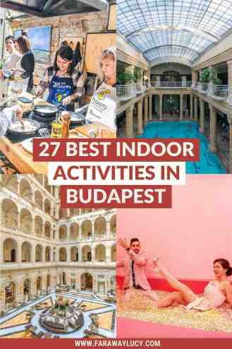 27 Best Indoor Activities in Budapest You Need To Try [2021]. From spas, galleries and museums to markets, escape rooms and aquariums, here are the 27 best indoor activities in Budapest you need to try! Click through to read more...