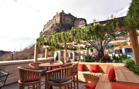 outdoor-seating-at-cold-town-house-rooftop-bars-edinburgh