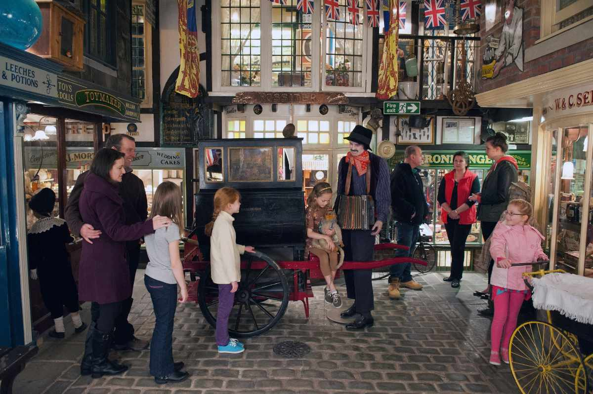 families-in-victorian-street-at-bygones-attraction