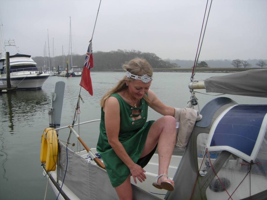 She of Feock - sailing to a wedding at bucklers hard