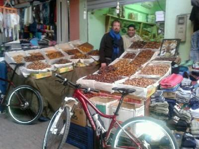 Shopping for dates and nuts in Taroudant