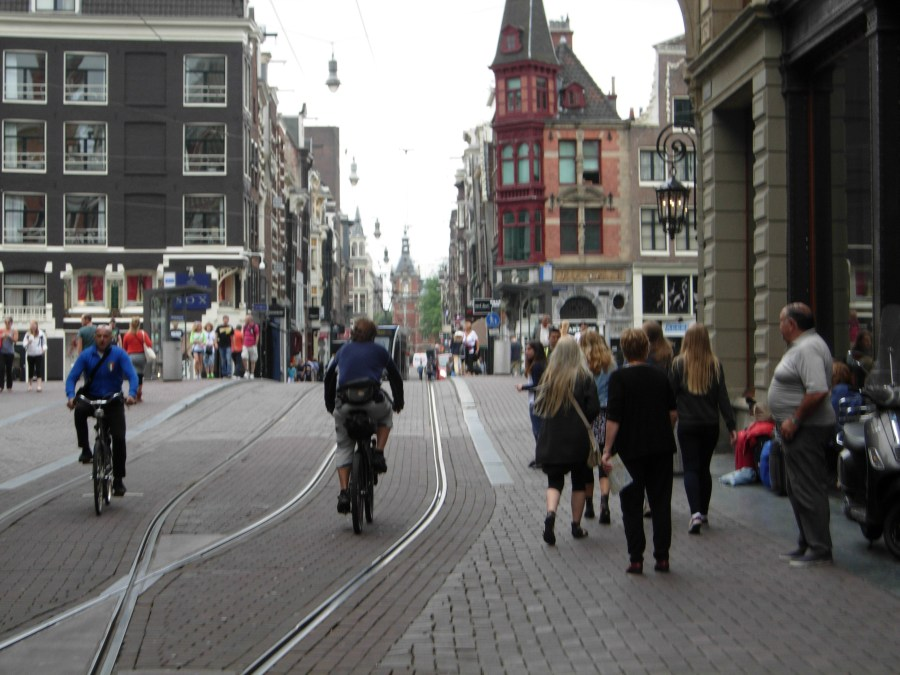 Riding with trams amsterdam