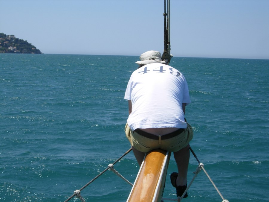 Dan on the bowsprit
