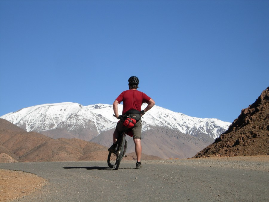 Bikepacking route Agadir to Ouarzazate looking towards the high atlas morocco