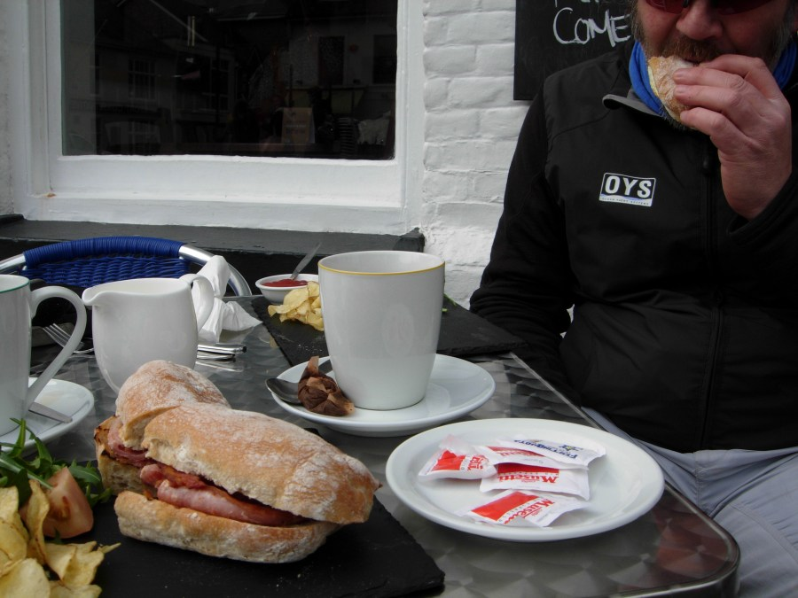 Bacon sandwich at Nosh coffee house