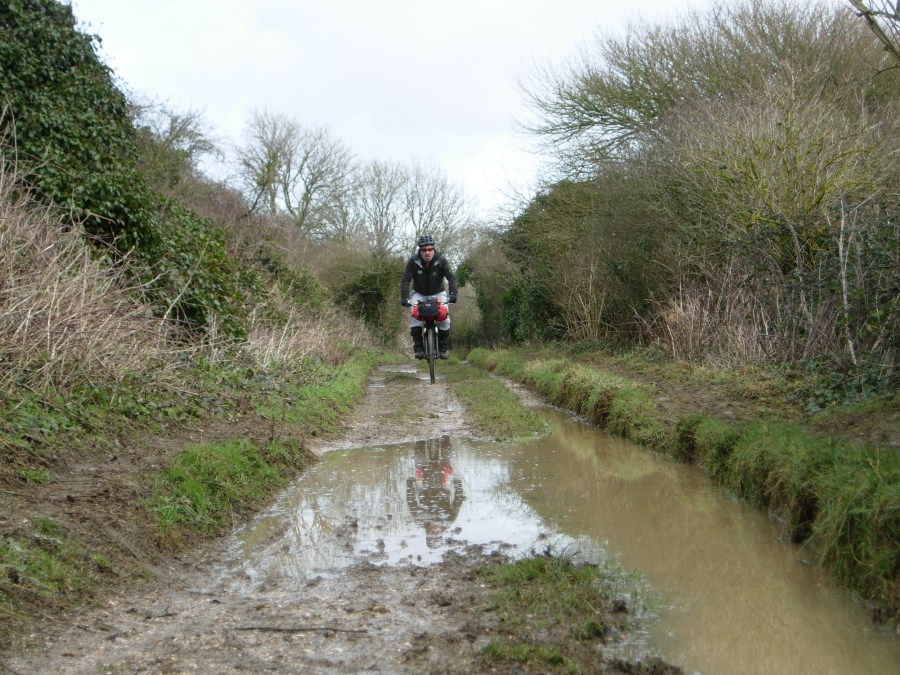 Wet and muddy on Tennyson Trail