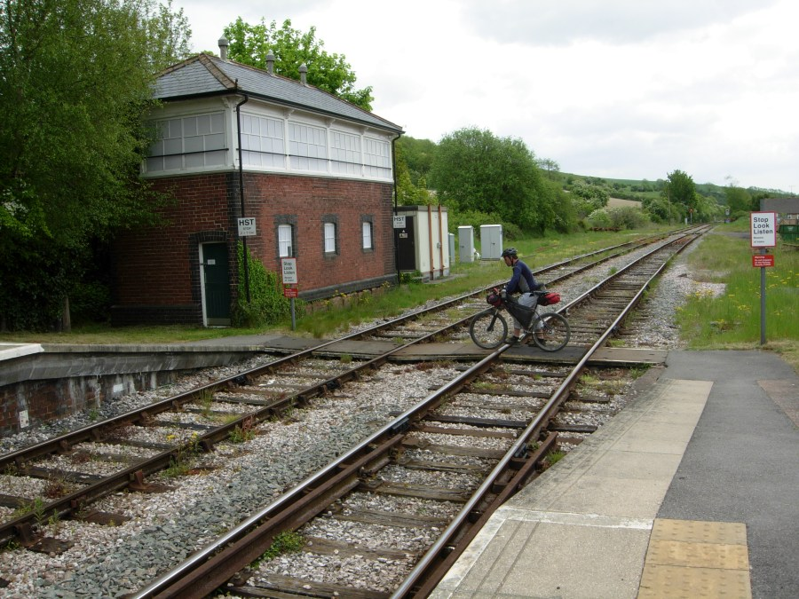 crossing the railway line at maiden newton