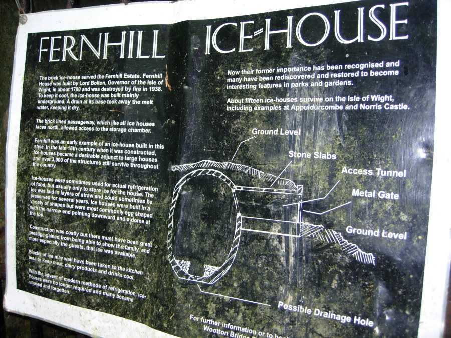 Fernhill Ice house sign