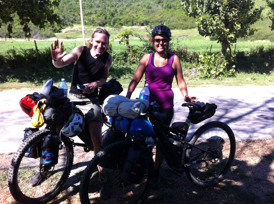 tim and paula from Guernsey cycling Cuba